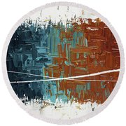 Good Feeling - Abstract Art Round Beach Towel