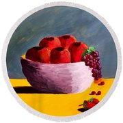 Good Fruit Round Beach Towel