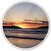 Good Harbor Beach At Sunrise Gloucester Ma Round Beach Towel