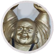 Good Luck Buddha Round Beach Towel