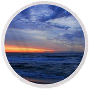 Good Morning - Jersey Shore Round Beach Towel