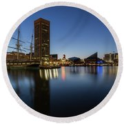 Good Morning Baltimore Round Beach Towel