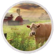 Round Beach Towel featuring the photograph Good Morning by Lori Deiter