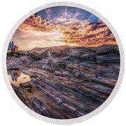 Good Morning Starshine Round Beach Towel by Neil Shapiro