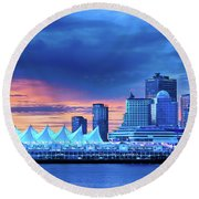 Good Morning Vancouver Round Beach Towel