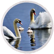 Good Parents Round Beach Towel