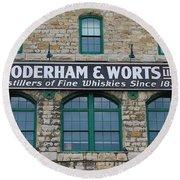 Gooderham And Worts Distillery Round Beach Towel