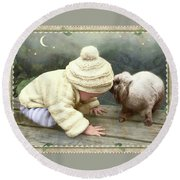 Goodnight Bunny Round Beach Towel