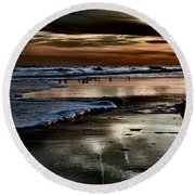 Goodnight Sun Isle Of Palms Round Beach Towel