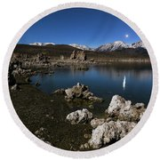 Round Beach Towel featuring the photograph Goodnight Venus by Tassanee Angiolillo