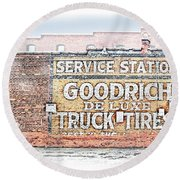 Goodrich Tires Round Beach Towel