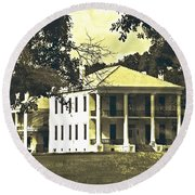 Goodwood Plantation Baton Rouge Circa 1852 Round Beach Towel