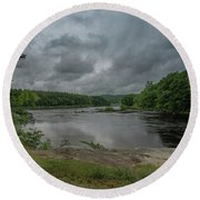 Round Beach Towel featuring the photograph Googin's Island Revisited by Guy Whiteley