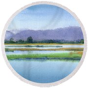 Goose Island Marsh Round Beach Towel