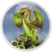 Gooseberry Dragon Round Beach Towel by Stanley Morrison