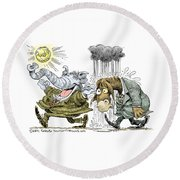 Gop Glee And Dem Doom Round Beach Towel
