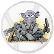 Gop Tied Up In A Knot Round Beach Towel