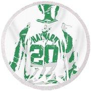 Gordon Hayward Boston Celtics Pixel Art T Shirt 5 Round Beach Towel