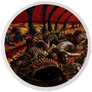 Gored-explored Round Beach Towel