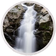 Gorge Waterfall Round Beach Towel