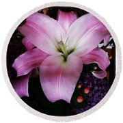 Round Beach Towel featuring the photograph Gorgeous Flowers. Real. I Think They by Mr Photojimsf