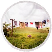 Gorgeous Sunny Day For Hobbits Round Beach Towel