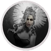 Gorgon Round Beach Towel by Joaquin Abella