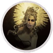 Gorgon Medusa Round Beach Towel