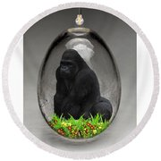 Gorilla Ape Art Round Beach Towel