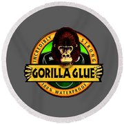 Gorilla Glue T-shirt Round Beach Towel