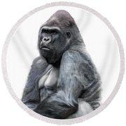 Gorilla Round Beach Towel