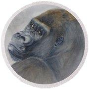 Gorilla's Celebrity Pose Round Beach Towel