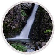 Goritsa Waterfalls-2211 Round Beach Towel