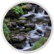Goritsa Waterfalls-rapids 2181 Round Beach Towel