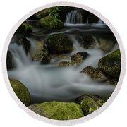 Goritsa Waterfalls-rapids 2235 Round Beach Towel