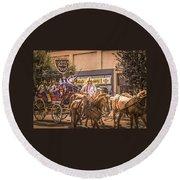 Goshen Mounted Police Round Beach Towel
