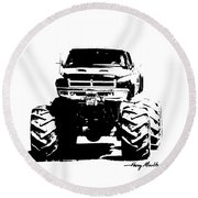 Got Mud? Round Beach Towel