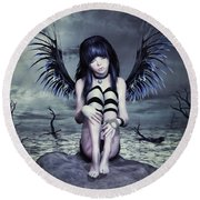 Goth Fairy Round Beach Towel
