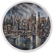 Gotham City Round Beach Towel