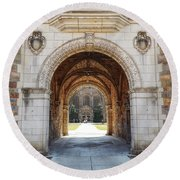 Gothic Archway Photography Round Beach Towel