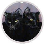 Gothic Cats Round Beach Towel