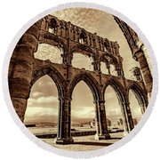 Round Beach Towel featuring the photograph Gothic Dreams by Anthony Baatz