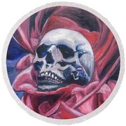 Round Beach Towel featuring the painting Gothic Romance by Isabella F Abbie Shores FRSA