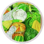 Gourd Seed Packet Round Beach Towel