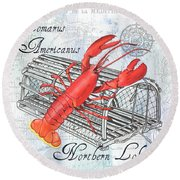 Gourmet Shellfish 2 Round Beach Towel