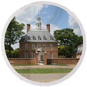Governers Palace - Williamsburg Va Round Beach Towel by Christiane Schulze Art And Photography