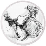 Government Horse Round Beach Towel