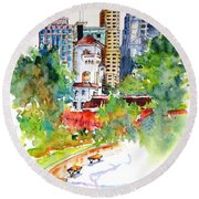 Governor's House, Hong Kong Round Beach Towel
