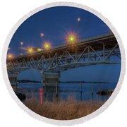 G.p. Coleman Bridge Round Beach Towel