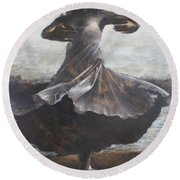 Grace And Movement Round Beach Towel